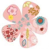 Rosace fleurie sticker mural