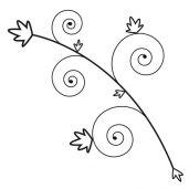 Feuilles en spirales sticker